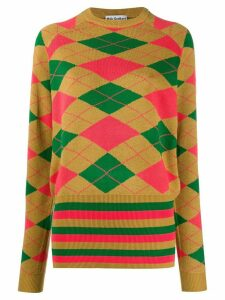 Molly Goddard Argyle knit jumper - NEUTRALS