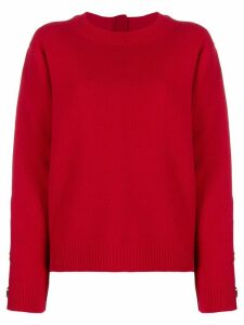 Nº21 embellished zipped jumper - Red
