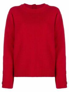 Nº21 embellished zipped jumper - Red