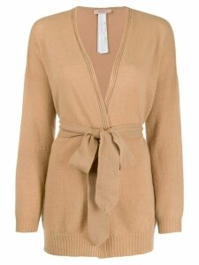Twin-Set belted wrap cardigan - Brown
