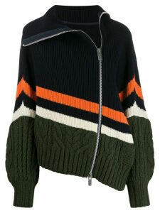Sacai zip-up knitted jumper - Blue