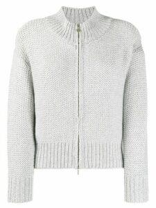 Fabiana Filippi zip front cardigan - Grey
