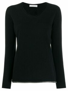Fabiana Filippi bead-embellished jumper - Blue