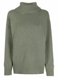 Pringle of Scotland guernsey stitch roll-neck jumper - Green