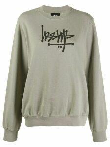 Stussy graphic print sweatshirt - Grey