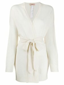 Twin-Set belted wrap cardigan - NEUTRALS