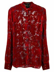 Ann Demeulemeester floral embroidered shirt