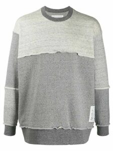 Julien David mottled overlocked sweatshirt - Grey