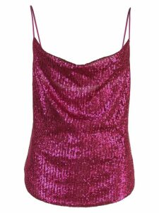 Jonathan Simkhai sequined draped-neck top - Pink