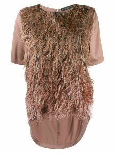Fabiana Filippi fringed top - PINK