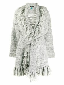 Alanui Artic Shades fringed cardigan - Grey