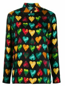 Versace heart print shirt - Black