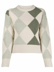 Pringle of Scotland graphic argyle jumper - NEUTRALS