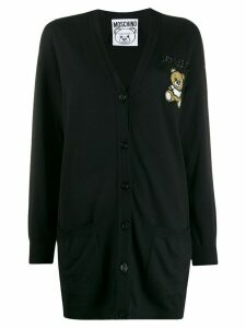 Moschino beaded logo button-down cardigan - Black
