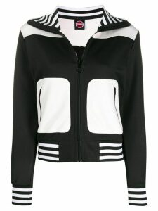 Colmar striped trim zip-up sweatshirt - Black
