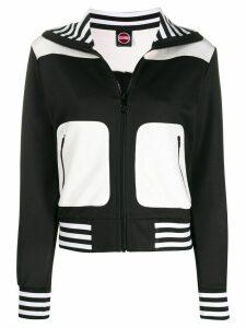 Colmar striped trim zip-up sweatshirt - Black