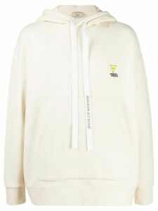 Maison Kitsuné chest logo hoodie - White
