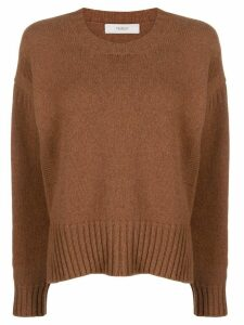 Pringle of Scotland guernsey stitch round-neck jumper - Brown