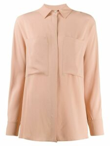 Semicouture chest pocket shirt - NEUTRALS