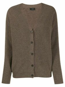 Joseph cashmere ribbed knit cardigan - Brown