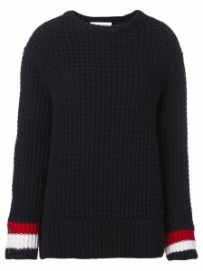 Thom Browne Waffle Stitch crew neck Pullover - Blue