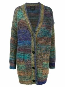Roberto Collina oversized long-sleeve cardigan - Purple