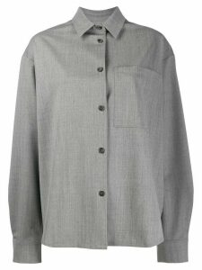 Duo oversized long-sleeve shirt - Grey