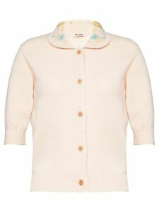 Miu Miu short-sleeved cardigan - Pink
