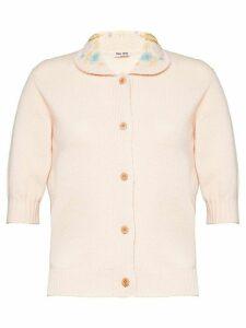 Miu Miu short-sleeved cardigan - PINK