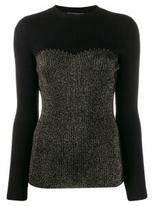Alberta Ferretti lurex detail jumper - Black