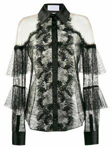 Marchesa lace cold shoulder shirt - Black
