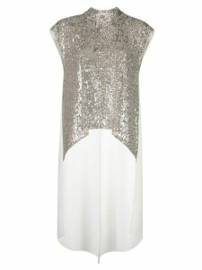 Sachin & Babi sequin high-low blouse - SILVER