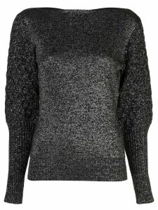 Sachin & Babi metallic boat neck jumper - Black