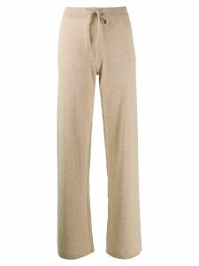 Chinti and Parker flared knit trousers - NEUTRALS