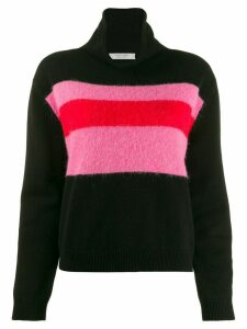 Chinti and Parker colour-block turtleneck jumper - Black