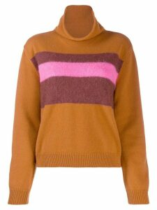 Chinti & Parker textured strip jumper - NEUTRALS
