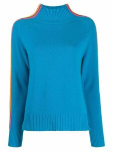Chinti & Parker contrasting stripes detail jumper - Blue