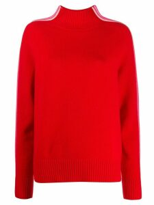 Chinti & Parker striped detail jumper - Red