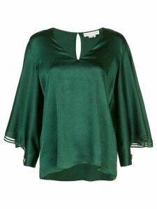 Sachin & Babi Adelaide tulle panelled blouse - Green