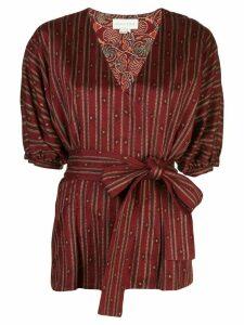Sachin & Babi striped print blouse - Red