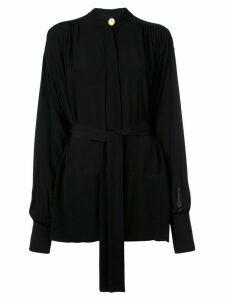 Proenza Schouler draped crepe de chine top - Black