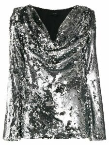 Ellery sequin-embroidered top - SILVER