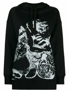 Valentino x Undercover Lovers print hooded sweatshirt - Black