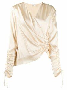 Jonathan Simkhai ruched satin blouse - NEUTRALS