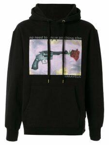 Makavelic Rose Gun print hoodie - Black
