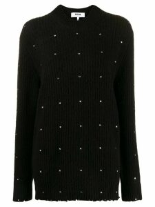 MSGM embroidered knitted jumper - Black