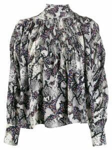Isabel Marant snake print blouse - White