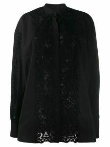 Giambattista Valli relaxed-fit lace panel shirt - Black
