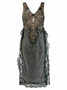 Christopher Kane crystal mesh sleeveless dress - Black