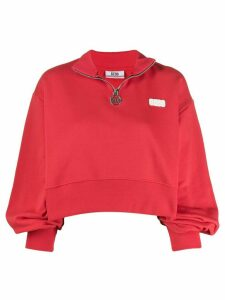 Gcds zipped logo sweater - Red